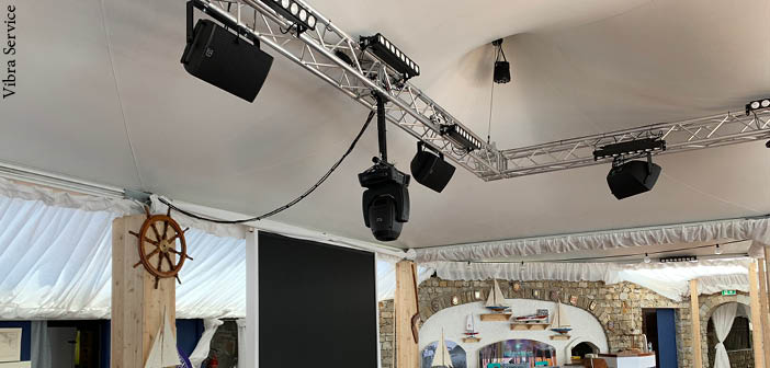 As well as the Powersoft amplifiers, the installation at Covo di Nord-Est includes speakers and subwoofers from Martin Audio