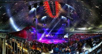 Sirkus Finlandia illuminated by Ayrton Perseo, NandoBeam S3 and MagicDot-R fixtures