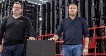 Roelof Bouwman (left), general manager for ROE Visual Europe, and Cees-Jan Faber (right), CEO of Faber Audiovisuals