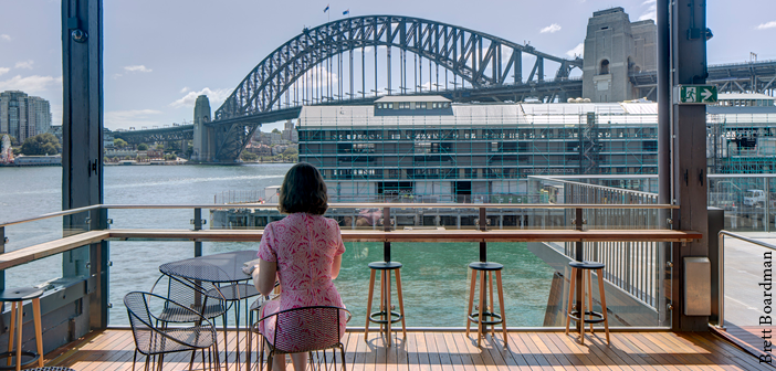 The venue benefits from views over Sydney Harbour
