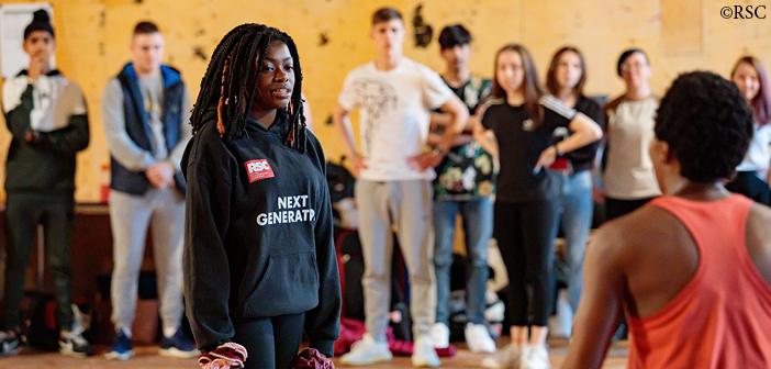 First Encounters: The Merchant of Venice – the Next Generation ACT group in rehearsal, July 2019. Photo: Sam Allard ©RSC