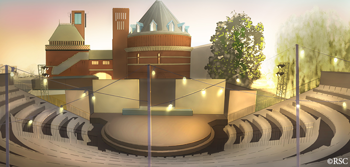 A visualisation of the Lydia & Manfred Gorvy Garden Theatre, designed by Andy Williams. ©RSC
