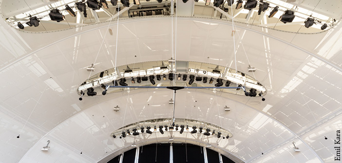 This is the first Constellation installation designed for stage acoustics in an outdoor venue